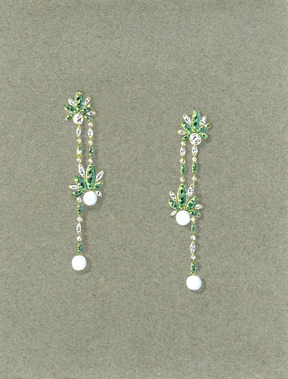 boucles d oreille deux perles roland kawczynski. Black Bedroom Furniture Sets. Home Design Ideas